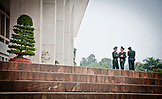 VIETNAM, Hanoi, three guards outside Ho Chi Minh Museum