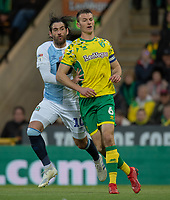 Blackburn Rovers' Danny Graham (left) battles with Norwich City's Christoph Zimmermann (right) <br /> <br /> Photographer David Horton/CameraSport<br /> <br /> The EFL Sky Bet Championship - Norwich City v Blackburn Rovers - Saturday 27th April 2019 - Carrow Road - Norwich<br /> <br /> World Copyright © 2019 CameraSport. All rights reserved. 43 Linden Ave. Countesthorpe. Leicester. England. LE8 5PG - Tel: +44 (0) 116 277 4147 - admin@camerasport.com - www.camerasport.com