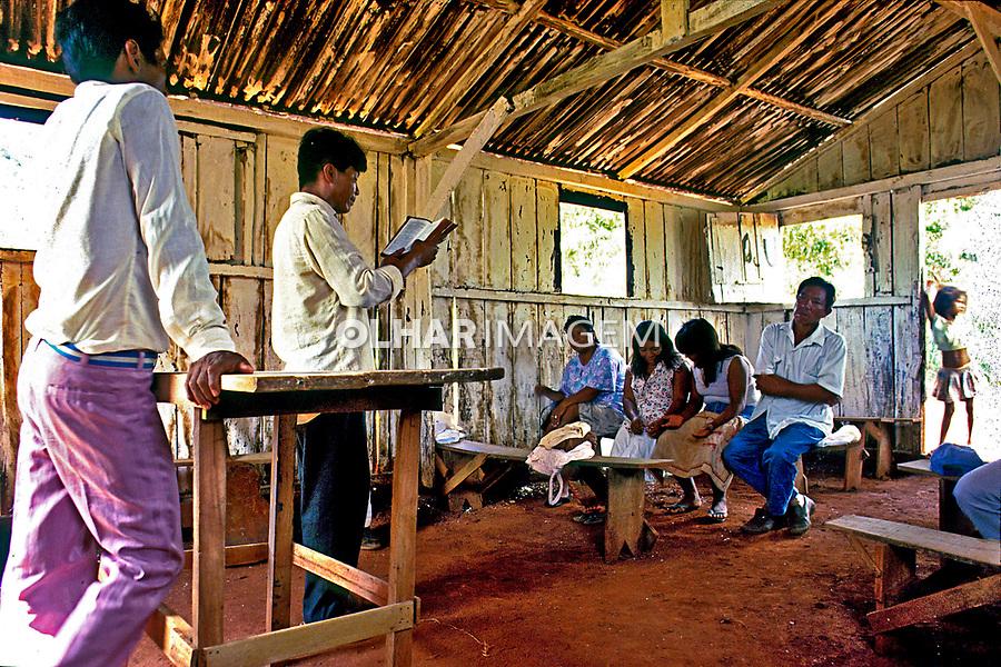 Igreja Evangélica dos índios Guarani, Mato Grosso do Sul. 1999. Foto de Ricardo Azoury.
