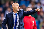 Coach Francisco Martin Ayestaran Barandiaran, Pako Ayestaran, of UD Las Palmas gestures during the La Liga 2017-18 match between Real Madrid and UD Las Palmas at Estadio Santiago Bernabeu on November 05 2017 in Madrid, Spain. Photo by Diego Gonzalez / Power Sport Images
