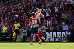 Atletico de Madrid's Borja Garces and Jose Maria Gimenez celebrate goal during La Liga match. September 15, 2018. (ALTERPHOTOS/A. Perez Meca)
