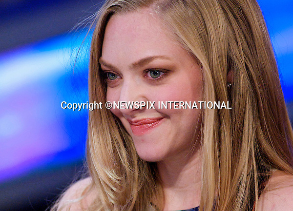 """JUSTIN TIMBERLAKE AND AMANDA SEYFRIED.played the flute when they appeared on 'El Hormiguero' A Spanish TV show, hosted by Pablo Motos, Madrid_28/11/2011.Mandatory Credit Photo: ©Gwynplaine Astufoto/NEWSPIX INTERNATIONAL..                 **ALL FEES PAYABLE TO: """"NEWSPIX INTERNATIONAL""""**..IMMEDIATE CONFIRMATION OF USAGE REQUIRED:.Newspix International, 31 Chinnery Hill, Bishop's Stortford, ENGLAND CM23 3PS.Tel:+441279 324672  ; Fax: +441279656877.Mobile:  07775681153.e-mail: info@newspixinternational.co.uk"""