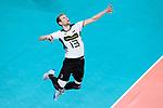 16.09.2019, Lotto Arena, Antwerpen<br />Volleyball, Europameisterschaft, Deutschland (GER) vs. …sterreich / Oesterreich (AUT)<br /><br />Aufschlag / Service Simon Hirsch (#13 GER)<br /><br />  Foto © nordphoto / Kurth