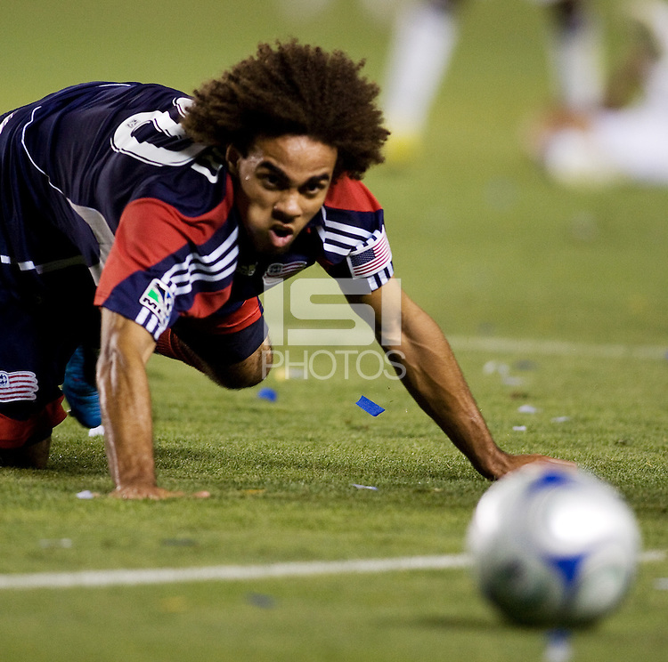 New England Revolution defender Kevin Alston crawls to the ball. The LA Galaxy defeated New England Revolution 1-0 at Home Depot Center stadium in Carson, California Saturday evening July 4, 2009. .