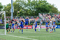 Boston, MA - Saturday June 24, 2017: Boston Breakers and North Carolina Courage during a regular season National Women's Soccer League (NWSL) match between the Boston Breakers and the North Carolina Courage at Jordan Field.