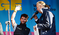 Picture by Simon Wilkinson/SWpix.com 02 /05/2018<br /> Cycling Tour de Yorkshire Eve of Tour Event - Millennium Square Leeds<br /> Mens Race presentation Mark Cavendish