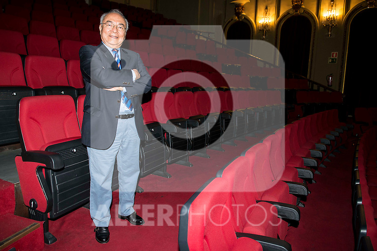 Vocalist of Los Panchos, Rafael Basurto during the presentation of a concert at Teatro Nuevo Apolo in Madrid. May 31, 2016. (ALTERPHOTOS/BorjaB.Hojas)