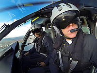 Norwegian Police Helicopter with pilots Gunnar Arnekleiv (front) and Stian Ødegaard.