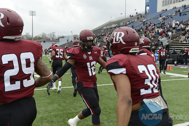21 DEC 2013:  Lenoir-Rhyne College takes on Northwest Missouri State University during the Division II Men's Football Championship held at Braly Municipal Stadium in Florence, AL.  Lenoir-Rhyne defeated Northwest Missouri State 22-19 to win the national title.  Justin Tafoya/NCAA Photos