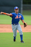 GCL Mets shortstop Luis Guillorme (9) during practice before the first game of a double header against the GCL Cardinals on July 17, 2013 at Roger Dean Complex in Jupiter, Florida.  GCL Cardinals defeated the GCL Mets 6-5 in twelve innings.  (Mike Janes/Four Seam Images)