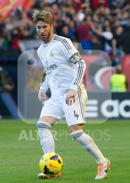 Real Madrid's Sergio Ramos during La Liga match.December 14,2013. (ALTERPHOTOS/Mikel)