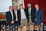 Attending the Athea GAA Social at The Gables Restaurant on Saturday night were Noel Barry (Manager), Sean McAuliffe, ( Secretary Football Board ) , Sean Ahern (Club Secretary), Liam Lenihan (Chairman Limerick Co. Board) and Michael O'Connor, (Club Chairman),.   Copyright Kerry's Eye 2008