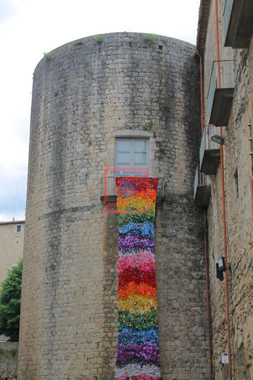 Girona Temps de Flors.<br /> 62a Exposicio de Flors, Monuments, Patis i Jardins.<br /> La For&ccedil;a Vella.