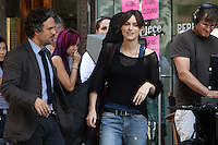 """July 09, 2012  Mark Ruffalo and Keira Knightley shooting on location for the new VH-1 film, """"Can a Song Save Your Life ?"""" in New York City. © RW/MediaPunch Inc."""
