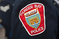 Thunder Bay Police badge is seen during a police memorial parade in Ottawa Sunday September 26, 2010.