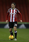 Danny Lafferty of Sheffield Utd during the English League One match at the Bramall Lane Stadium, Sheffield. Picture date: November 19th, 2016. Pic Simon Bellis/Sportimage