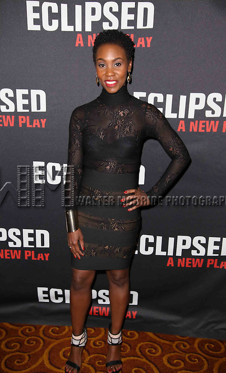 Ayesha Jordan attends the 'Eclipsed' broadway opening night after party at Gotham Hall on March 6, 2016 in New York City.