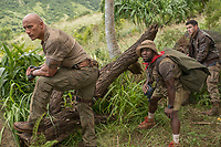 Jumanji: Welcome to the Jungle (2017) <br /> Dwayne Johnson, Kevin Hart and Nick Jonas<br /> *Filmstill - Editorial Use Only*<br /> CAP/KFS<br /> Image supplied by Capital Pictures