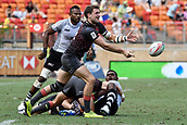 2nd February 2019, Spotless Stadium, Sydney, Australia; HSBC Sydney Rugby Sevens; England versus Fiji; Harry Glover of England passes the ball