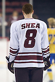Colin Shea (UMass - 8) - Sweden's Under-20 team played its last game on this Massachusetts tour versus the University of Massachusetts-Amherst Minutemen losing 5-1 on Saturday, November 6, 2010, at the Mullins Center in Amherst, Massachusetts.