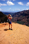 Hawaii: Kauai, Waimea Canyon views.  Photo hifree110.Photo copyright Lee Foster, 510/549-2202, lee@fostertravel.com, www.fostertravel.com