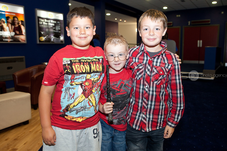 15/7/2011. Callum Beatie Byrne, Cillian Byrne and Charlie Delaney Byrne are pictured at the opening of UCI Stillorgan. Picture Collins Photo Agency.