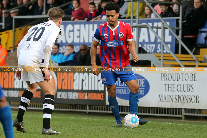 Joe Widdowson of Dagenham and Charlie Cooper of Forest Green Rovers during Dagenham & Redbridge vs Forest Green Rovers, Vanarama National League Football at the Chigwell Construction Stadium on 11th March 2017