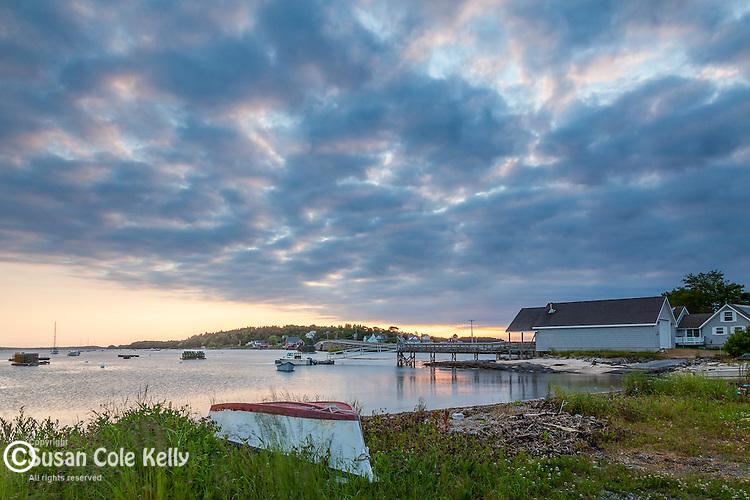Sunrise over Orr's Island in Harpswell, Maine, USA