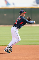 Jason Donald. Cleveland Indians spring training workouts at their complex in Goodyear, AZ - 03/06/2010.Photo by:  Bill Mitchell/Four Seam Images.
