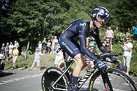 Alejandro Valverde (ESP/Movistar)<br /> <br /> Stage 18 (ITT) - Sallanches › Megève (17km)<br /> 103rd Tour de France 2016