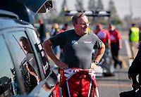 Feb 7, 2020; Pomona, CA, USA; NHRA top fuel driver Doug Kalitta during qualifying for the Winternationals at Auto Club Raceway at Pomona. Mandatory Credit: Mark J. Rebilas-USA TODAY Sports