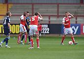 08/05/2016 Sky Bet League 1 Fleetwood Town v <br /> Crewe Alexandra<br /> Eggert Jonsson escapes a second yellow card
