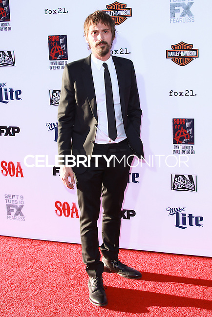HOLLYWOOD, LOS ANGELES, CA, USA - SEPTEMBER 06: Niko Nicotera arrives at the Los Angeles Premiere Of FX's 'Sons Of Anarchy' Season 7 held at the TCL Chinese Theatre on September 6, 2014 in Hollywood, Los Angeles, California, United States. (Photo by David Acosta/Celebrity Monitor)