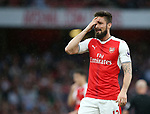Arsenal's Olivier Giroud looks on dejected during the Premier League match at the Emirates Stadium, London. Picture date: May 16th, 2017. Pic credit should read: David Klein/Sportimage
