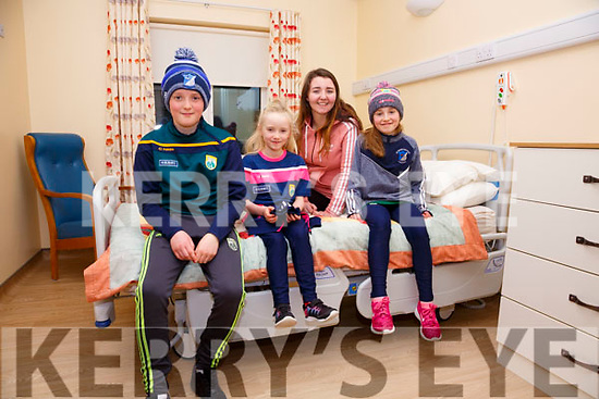 Checking out the new rooms at the Valentia Community Hospital on Thursday were l-r; Tadhg O'Sullivan, Aisling O'Sullivan, Meabh Daly & Sadhbh O'Sullivan.
