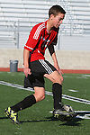 Palos Verdes, CA 02/03/12 - Lorenzo Schiappa (Palos Verdes #13) in action during the Peninsula vs Palos Verdes boys varsity soccer game.