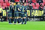 Torjubel zum 0:2 durch den Unions Sebastian Andersson <br />  beim Spiel in der Fussball Bundesliga, 1. FSV Mainz 05 - 1. FC Union Berlin.<br /> <br /> Foto © PIX-Sportfotos *** Foto ist honorarpflichtig! *** Auf Anfrage in hoeherer Qualitaet/Aufloesung. Belegexemplar erbeten. Veroeffentlichung ausschliesslich fuer journalistisch-publizistische Zwecke. For editorial use only. DFL regulations prohibit any use of photographs as image sequences and/or quasi-video.