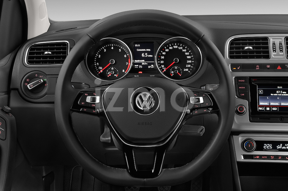 Car pictures of steering wheel view of a 2014 Volkswagen POLO SPORTLINE 5 Door Hatchback 2WD Steering Wheel