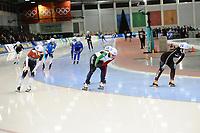 SPEEDSKATING: SALT LAKE CITY: 08-12-2017, Utah Olympic Oval, ISU World Cup, Mass Start Ladies, Semi-Final, Nikola Zdráhalova (#29 | CZE), Francesca Lollobrigida (#21 | ITA), Dan Li (#24 | CHN), ©photo Martin de Jong