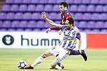 Real Valladolid's Michel Herrero (f) and Levante UD's Victor Casadesus during La Liga Second Division match. March 11,2017. (ALTERPHOTOS/Acero)