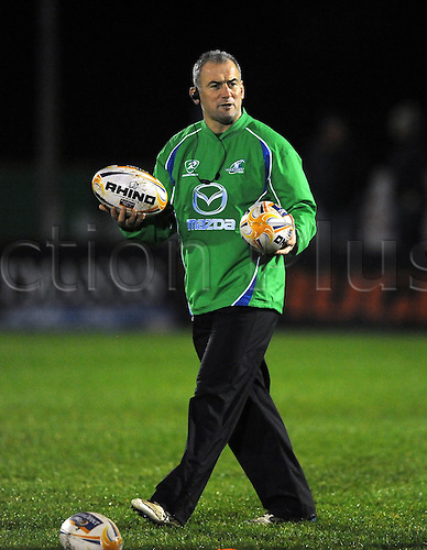 22.12.2012 Galway, Ireland. Connacht head coach, Eric Elwood before the Rabodirect Pro 12 game between Connacht Rugby and Munster from the Sportsground.