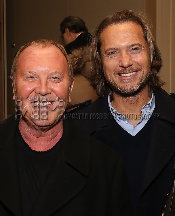 "Michael Kors and Lance Le Pere attends the New York City Center Celebrates 75 Years with a Gala Performance of ""A Chorus Line"" at the City Center on November 14, 2018 in New York City."