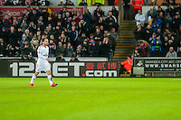 Leon Britton of Swansea leaves during field during his 500th appearance for the club during  the Barclays Premier League match between Swansea City and Sunderland played at the Liberty Stadium, Swansea  on  January the 13th 2016