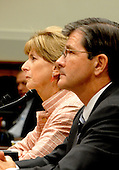 Washington, D.C. - June 25, 2007 -- Former Environmental Protection Agency (EPA) Administrator Christine Todd Whitman, left, and John L. Henshaw, right, testify before the United States House Constitution, Civil Rights, and Civil Liberties Subcommittee hearing on post 9/11 air quality in New York and the area surrounding the Twin Towers in Manhattan in Washington, D.C. on Monday, June 25, 2007.<br /> Credit: Ron Sachs / CNP<br /> (RESTRICTION: No New York or New Jersey newspapers or Newspapers within a 75 mile radius of New York City)
