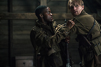 Overlord (2018) <br /> Jovan Adepo as Boyce, Wyatt Russell as Ford<br /> *Filmstill - Editorial Use Only*<br /> CAP/MFS<br /> Image supplied by Capital Pictures