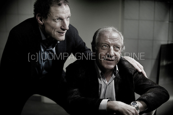 Former Dutch and Belgian bicycle racers Maarten Ducrot and José De Cauwer (Holland, 11/01/2012)