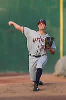 Mark Appel #28 of the Lancaster JetHawks warms up before pitching against the Inland Empire 66ers at San Manuel Stadium on April 23, 2014 in San Bernardino, California. Inland Empire defeated Lancaster, 4-3. (Larry Goren/Four Seam Images)