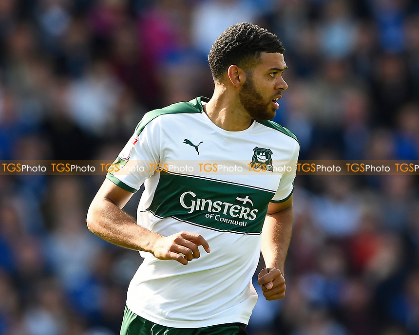 Jake Jervis of Plymouth Argyle during Portsmouth vs Plymouth Argyle, Sky Bet EFL League 2 Football at Fratton Park on 14th April 2017