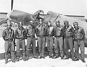Undated group photo of The Tuskeegee Airmen, the black fighter pilots of the 99th Pursuit Squadron, later incorporated into the 332nd Fighter Group, who fought during World War II in the United States Army Air Corps that were trained at Tuskegee Army Air Field, Tuskegee, Alabama..Credit: U.S. Air Force via CNP