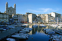 Saint Jean Baptist church in the old port at Bastia, Corsica, France.
